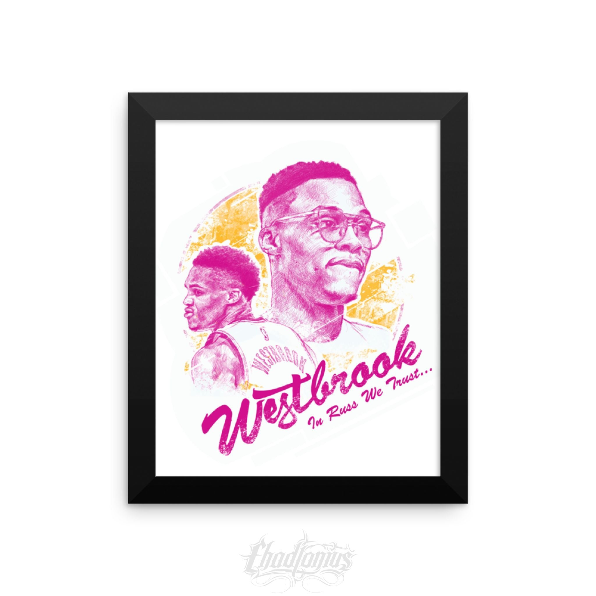 IN RUSS WE TRUST - Framed photo paper poster
