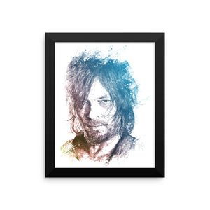 DARYL DIXON - Framed photo paper poster