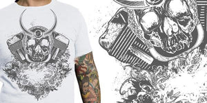 Motor Head Vector Apparel Design