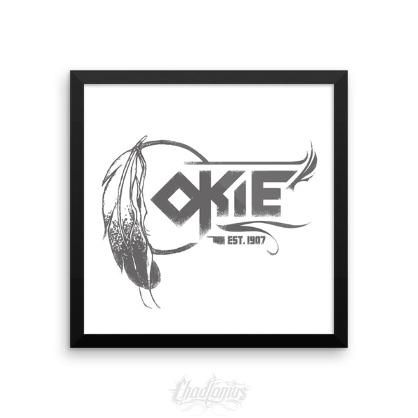 OKIE - Framed photo paper poster