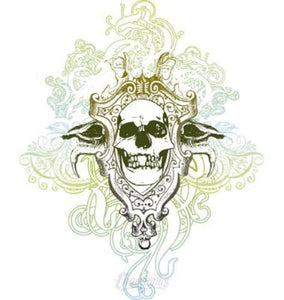 Skull Flourish Vector Illustration Vector Chadlonius