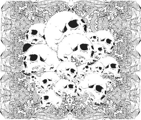 Textured Pattern Of Skulls Vector Vector Chadlonius