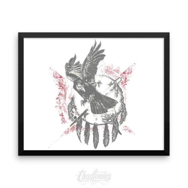 THE RAVEN - Framed photo paper poster