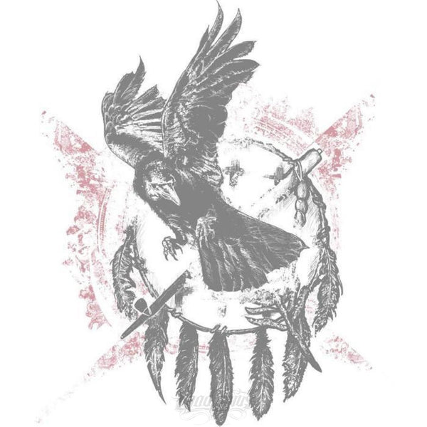The Raven - Native American Inspired Ladies T-Shirt Chadlonius