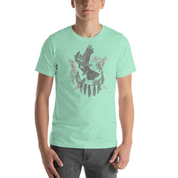 The Raven - Native American Inspired Unisex T-Shirt Heather Mint / S Chadlonius