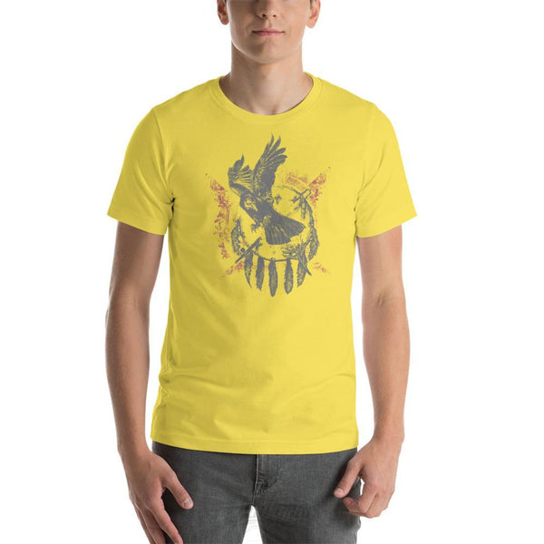 The Raven - Native American Inspired Unisex T-Shirt Yellow / S Chadlonius