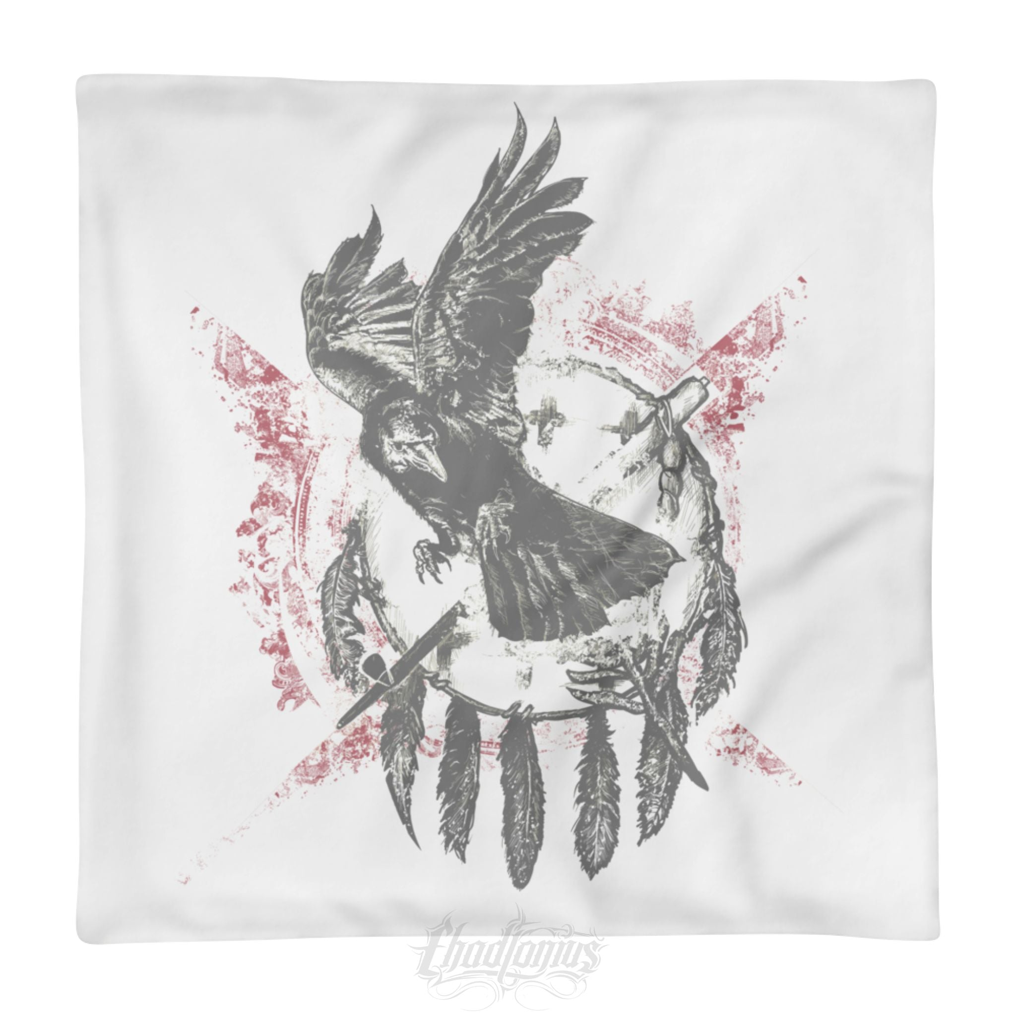 THE RAVEN - Square Pillow Case only