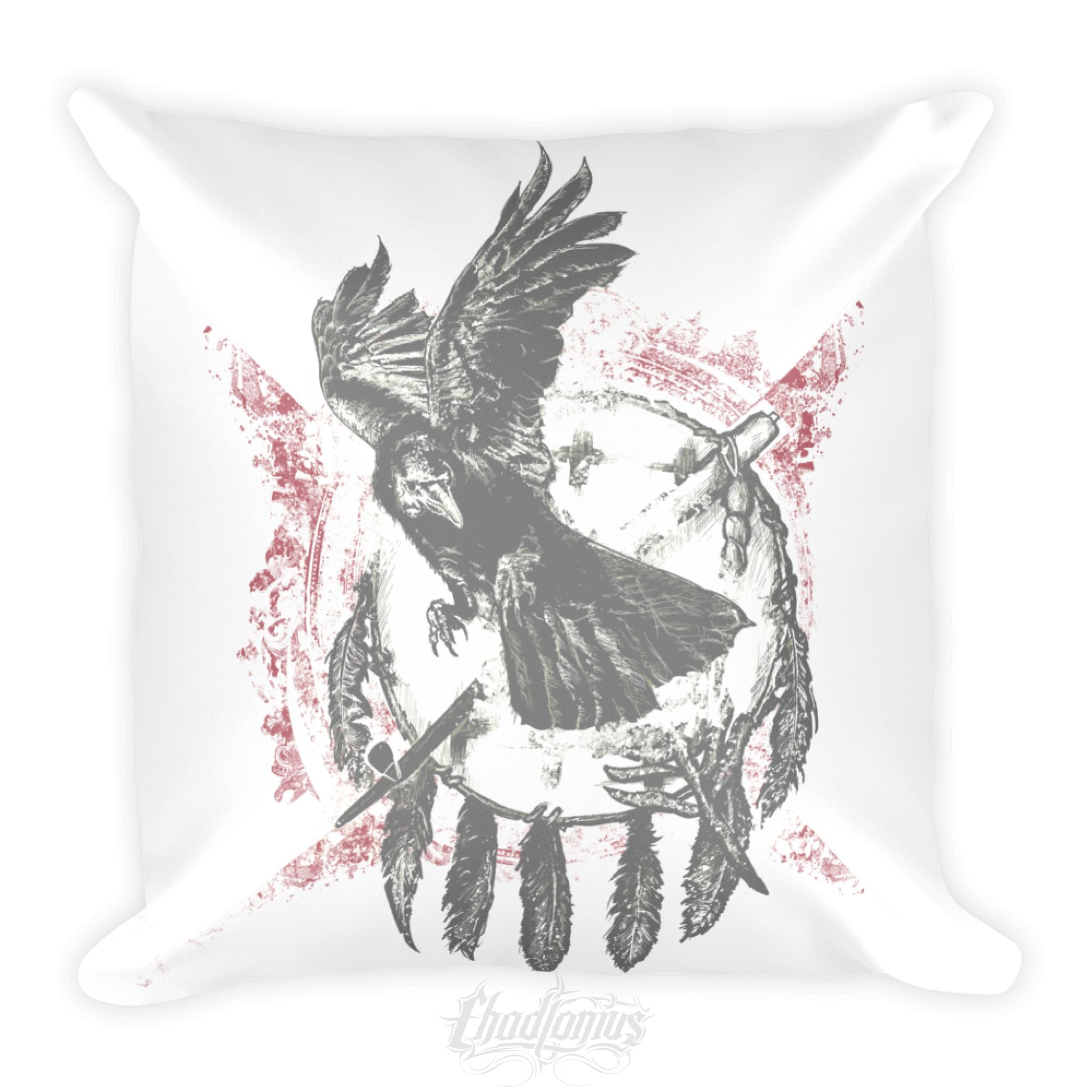 THE RAVEN - Square Pillow