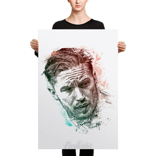Tom Hardy - Canvas 24×36 Canvas Chadlonius