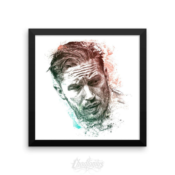 Tom Hardy - Framed Photo Paper Poster 12×12 Framed Chadlonius