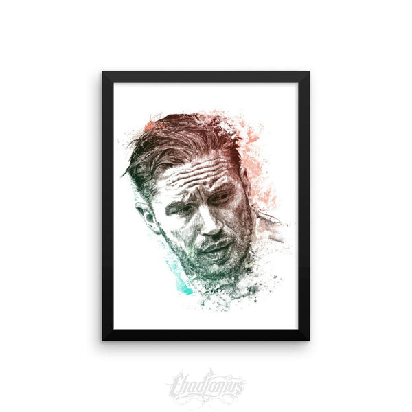 Tom Hardy - Framed Photo Paper Poster 12×16 Framed Chadlonius