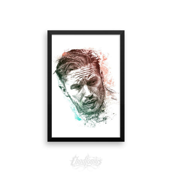 Tom Hardy - Framed Photo Paper Poster 12×18 Framed Chadlonius