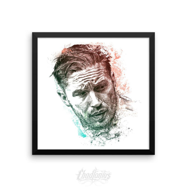 Tom Hardy - Framed Photo Paper Poster 16×16 Framed Chadlonius