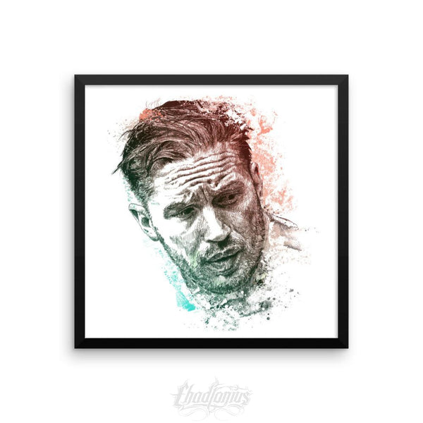 Tom Hardy - Framed Photo Paper Poster 18×18 Framed Chadlonius