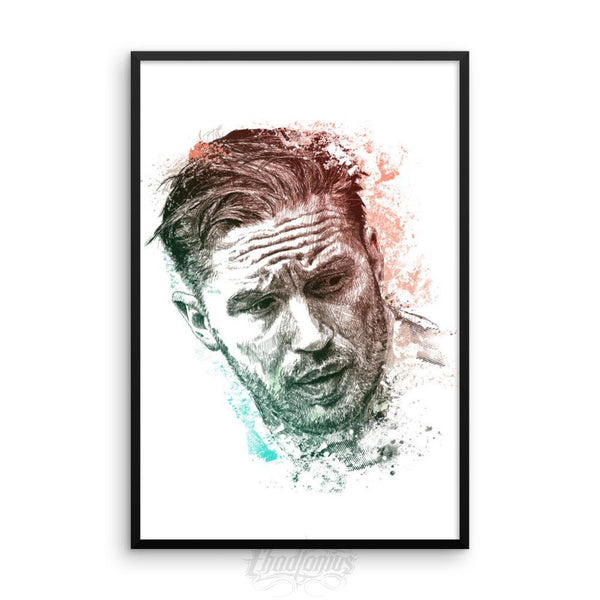 Tom Hardy - Framed Photo Paper Poster 24×36 Framed Chadlonius