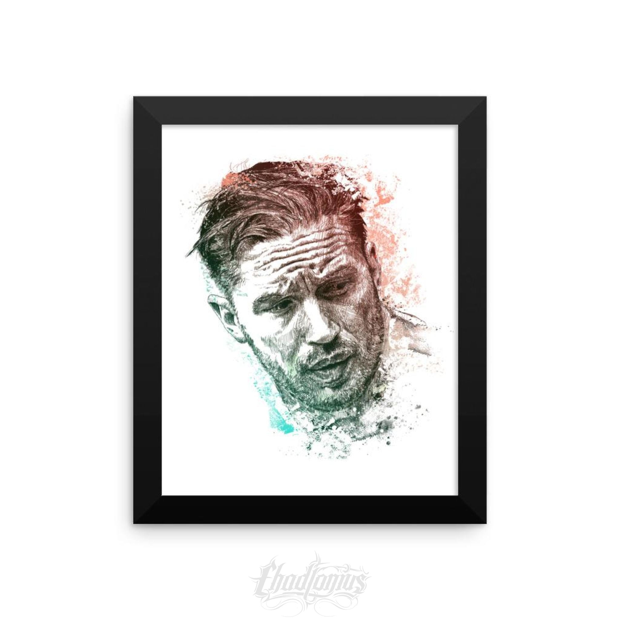 Tom Hardy - Framed Photo Paper Poster 8×10 Framed Chadlonius