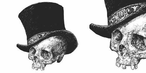 Top Hat Skull Vector Illustration