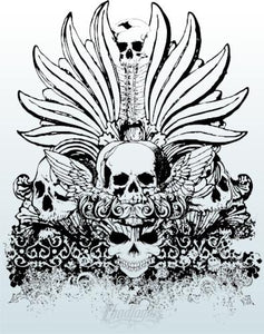 Tribal Tattoo Skull Vector Vector Chadlonius