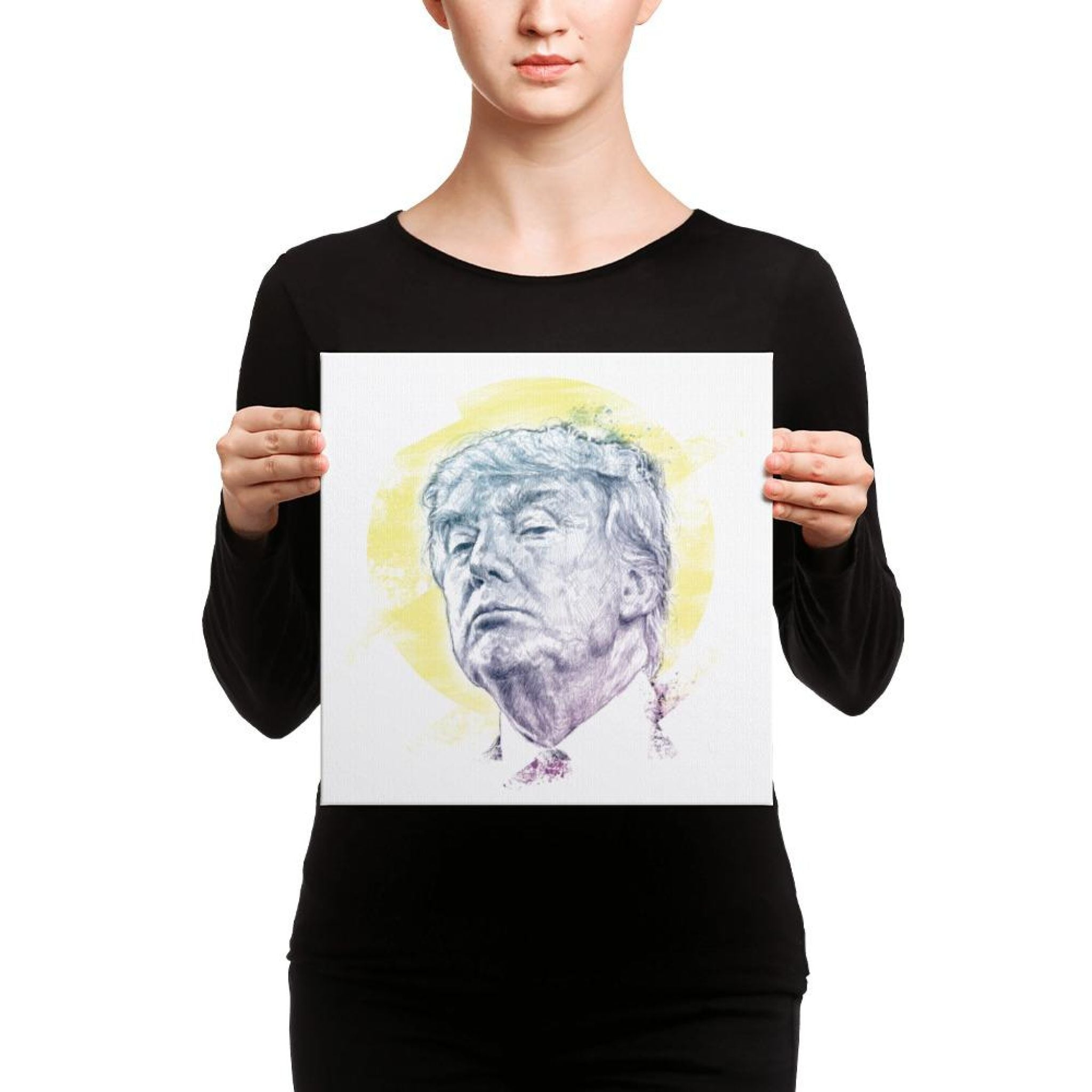 Trump Smug Mug Canvas 12×12 Canvas Chadlonius