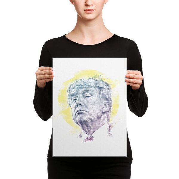 Trump Smug Mug Canvas 12×16 Canvas Chadlonius