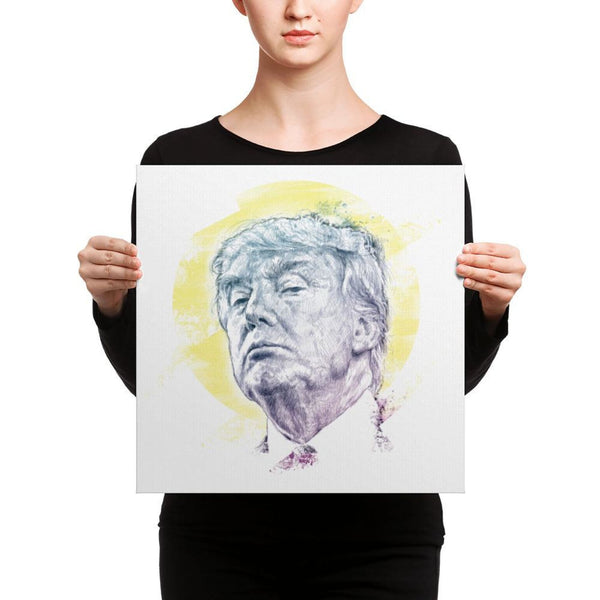 Trump Smug Mug Canvas 16×16 Canvas Chadlonius