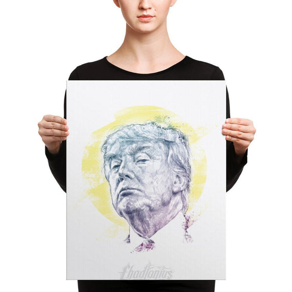 Trump Smug Mug Canvas 16×20 Canvas Chadlonius