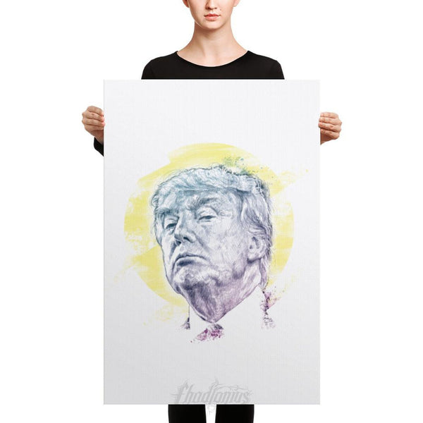 Trump Smug Mug Canvas 24×36 Canvas Chadlonius