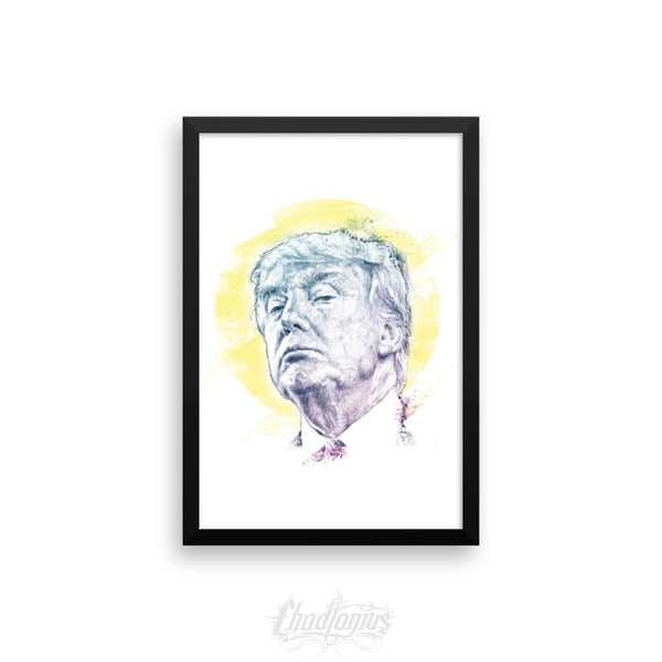 Trump Smug Mug Framed Photo Paper Poster 12×18 Framed Chadlonius