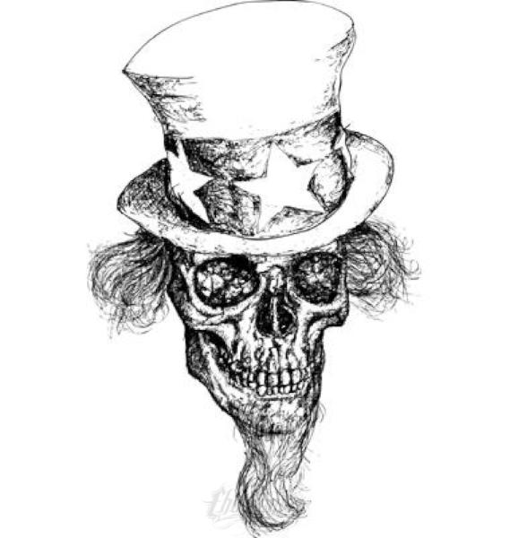 Uncle Sam Skull Vector Vector Chadlonius