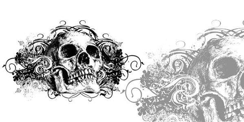 Vector Grunge Skull Illustration