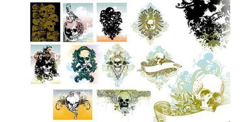 Vector Skull Illustrations Set I