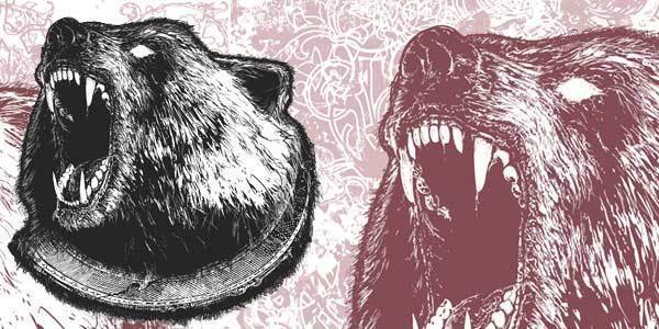 Wicked Bear Vector Illustration