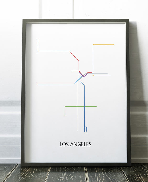 Los Angeles Metro Map Los Angeles Metro La Metro La Subway
