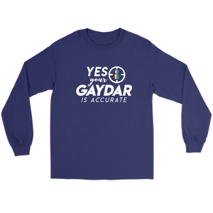 Accurate Gaydar Long Sleeve Tee
