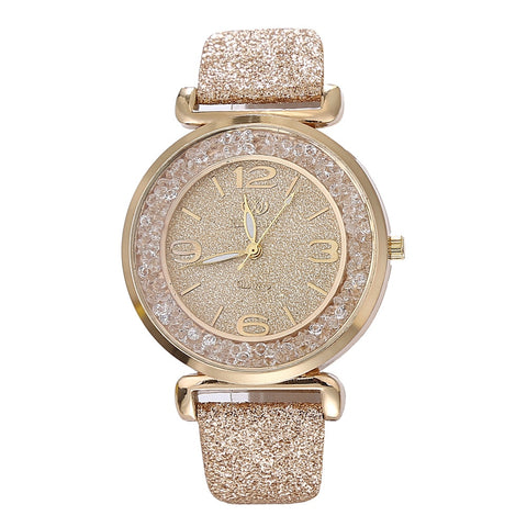 Rhinestone Stainless Steel Quartz Wrist Watches