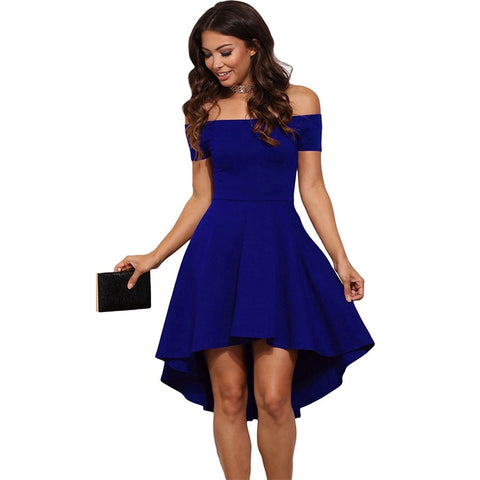 Off Shoulder Elegant Short Sleeves Dress