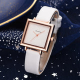 Square Women Bracelet Watch Leather