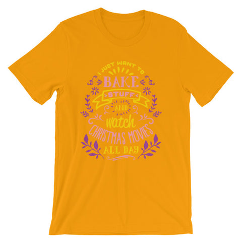 Bake Stuff, Watch Christmas Movies Xmas Costume T shirt