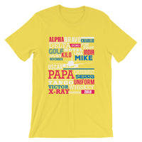Pilot Aviation Flying Alphabet Airplane T shirt