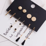5 Stud Earrings Set