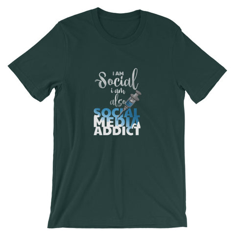 I Am Social But Also a Social Media Addict Funny T shirt