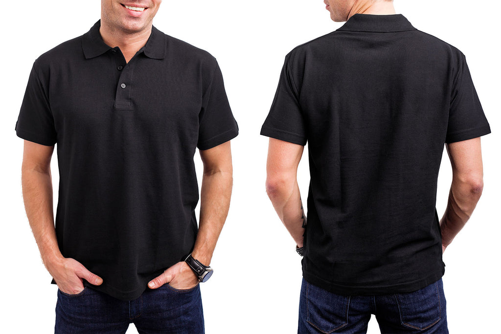 Black Plain Polo Shirt – MauritiusClothing 5d8d98694a40
