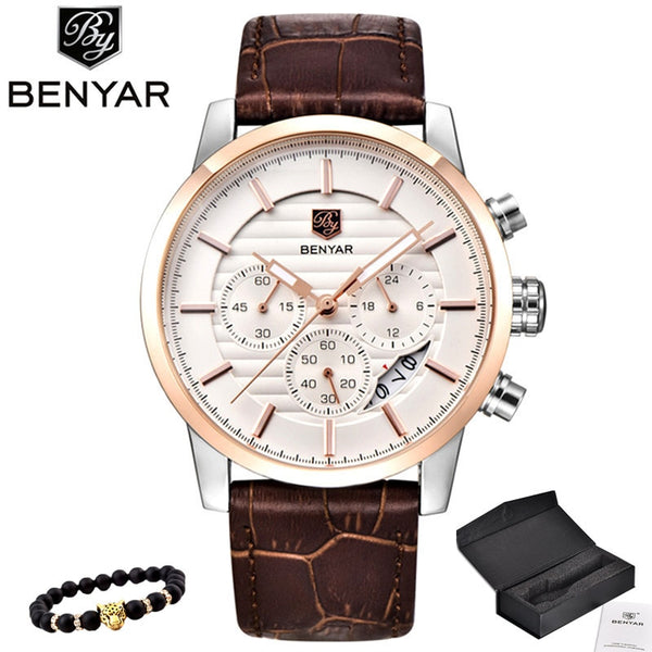 BENYAR Men Top Luxury Brand Quartz Sport Watch