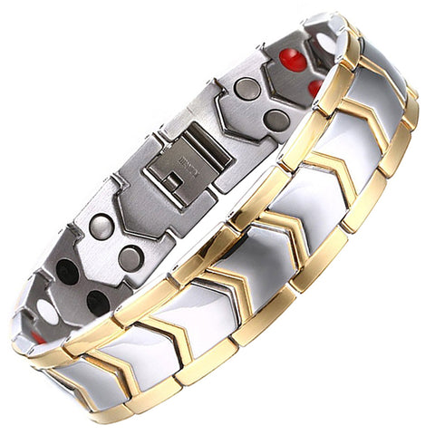 Healthy Stainless Steel Magnetic Therapy Bracelet