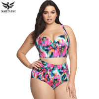 High Waist Swimsuit Plus Size Swimwear