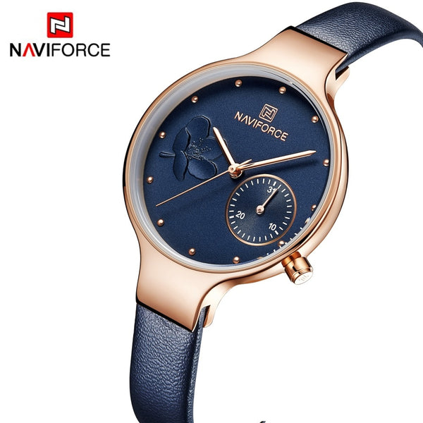NAVIFORCE Women Fashion Blue Quartz Watch