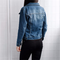 Long Sleeve Slim Jeans Coat