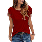 Women Cotton Tassel TShirt