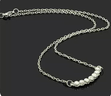 Silver clavicle chain