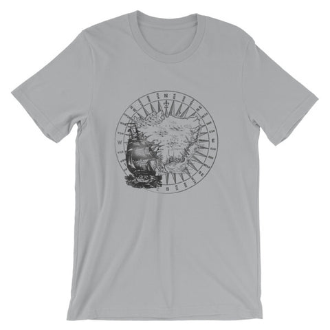 Old Sailing Ship Cruising to Mauritius (Light) Premium TShirt